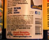 White Lightning Bamboo Wipes contains Isopropyl Alchohol click to zoom image