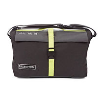 Brompton Roll Top Bag in Grey/Black/Lime Green + Free Pouch