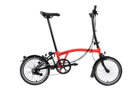 Brompton Black Edition H6R Rocket Red